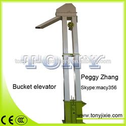 Huge capacity bucket elevator for wood pellet making line
