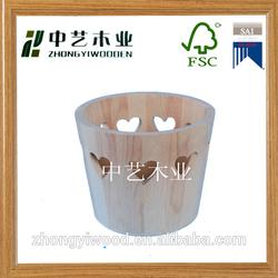 hot sale decorative wholesale natural pine handmade antique vintage wooden bucket