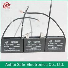 cbb61 celling fan capacitor MKP capacitor 10microfarads 450v capacitor