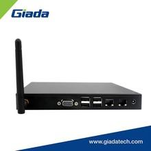 Fanless quad-core Bay Trail J1900 mini PC with dual COM, 2 gigabit LAN RJ45