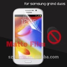 PET material clear anti-fingerprint anti glare screen film for Samsung galaxy duos