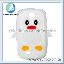 Colorful penguin silicon case for samsung galaxy mini s5570