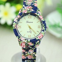 made in china geneva flower watch / new fashion bell and rose quartz watches