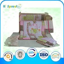 Naughty Animal Zoo Pattern Crib Bedding for Children