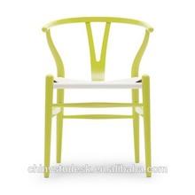 Modern designer wishbone chair with arm ,Rattan seat