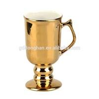 factory porcelain galvanized golden beer mug