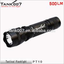 Tank007 high lumen tactical flashlight with gun mount hunting torch security torch light PT10