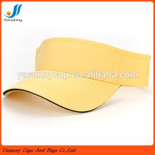 Top quality custom plain cotton sun visor with sandwich