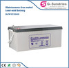independent solar battery 12v 100ah lead acid solar battery