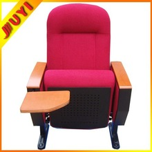 JY-605R with Pocket at Back with Wood Tablet Auditorium Audiance Seats Cheap Theater Chairs