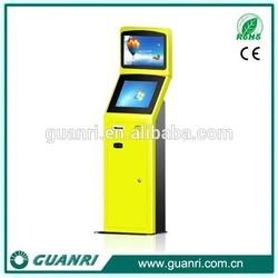 Guanri k06 17/19 inch touch panel network financial industry ticket vending kiosk