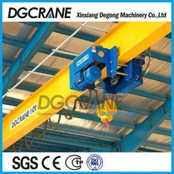 Rail track type small duty bridge crane dimensions