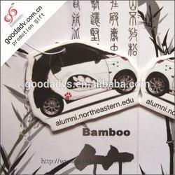 OEM High Quality Promotion shape paper car freshener black ice / car vent clips air freshener