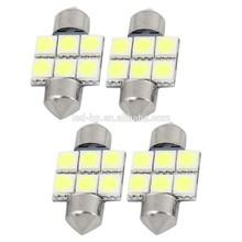 LED Lamp Type and 12V Voltage Super Bright 6SMD Festoon Car Led Licence Light