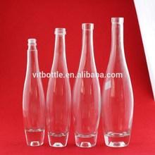 glass spirit bottles empty vodka glass bottle high quality bowling shape bottle