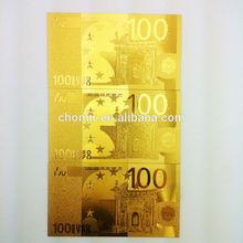 24k gold foil US currency banknotes Golden craft gold plated gift banknote business gift banknote