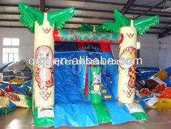 Green Palm tree inflatable slip n slide