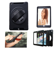 cool!new tablet Case For iPad Air 2,black handheld smart case for ipad 6