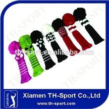 Golf Club Head Covers Pom Pom Head Covers