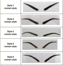 stocks available!! human hair lace base eyebrow,eyebrow extension