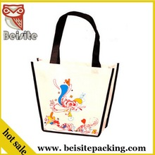 2015 hot selling pictures printing non woven drawstring shoe shopping bag