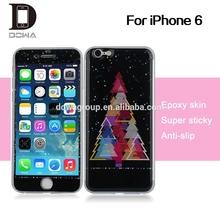 for iphone6 gel skin , factory PU epoxy gel sticker skin for iPhone 6