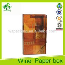 Fashion luxury colorful printing wine bottle case