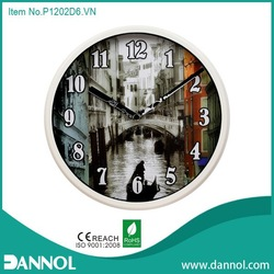 12inch plastic wall clock of original design
