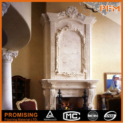 Hot Sell Cost-Effective Custom-Made Durable Marble Fireplace Black