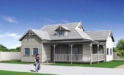 3D Modern Light steel House/prefabricated Villa/modular homes