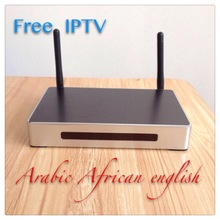 Hot sell IPTV BOX internet tv software with arabic/african/kurdish/indian/french/ Android arabic tv box support XBMC