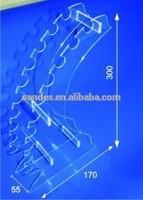 Clear Upright wheel Design Plastic Coaster