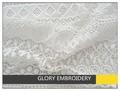 elegante branco solúvel em água africano cabo laço para o vestido