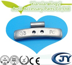 35g Epoxy coated Fe clip on wheel weight for alloy rims
