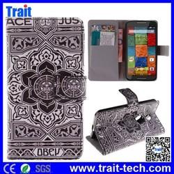 10 patterns optional! 2015 Hot Sale! Wallet Case Cover for Motorola XT1097 X2 X+1