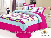 Light Roseo Blue Boarder Patchwork Bedding Sets / Patchwork Quilts / Comforter Sets