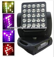 wholesale dj equipment guangzhou stage lighting,high quality professional 25pcs*12w led matrix beam moving head light
