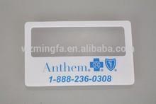 plastic magnifier credit card sized magnifier