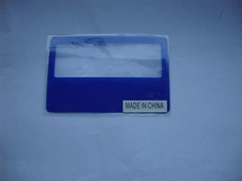 credit card size magnifier flexible plastic magnifiers