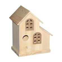Eco-friendly DIY unfinished wooden birdhouse bird cage dry bird nest