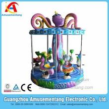 AT0941 Amusementang ocean world sea horse turtle design theme park music children carousel facility amusement park equipment