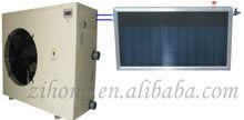 Solar swimming pool heat pump system