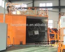 Automatic Shuttle Rotomolding Machine to produce plastic products Pe plastic rotomolding water tank mould 2-Arm Rotomolding