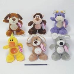 16cm super soft animal shape plush toys with pillows