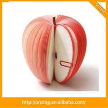 Onzing fruit shape memo pad/ apple sticky note