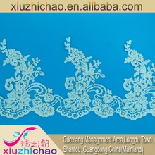 embroidery lace wedding lace garment decoration OEM manufacturer Fashion 30CM edgings Rayon trims and laces 112