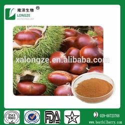Natural Chestnut extract,chestnut pulvis,chestnut tanin powder of Aescin 20% UV