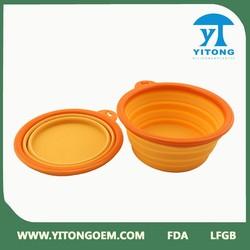 China wholesale food grade silicone collapsible bowl/dog bowl/pet bowl