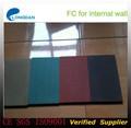 renforcé de fibres de couleur panneau de ciment panneau mural décoratif
