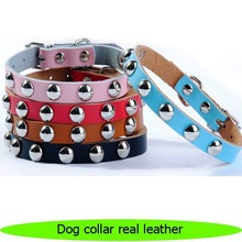 Wholesale high quality dog collar real leather